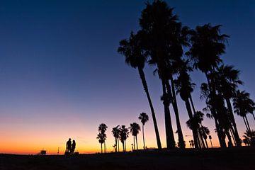 Sonnenuntergang Venice Beach von Lonneke Heijmans