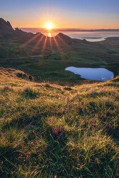 Schotland De Quiraing Sunrise van Jean Claude Castor