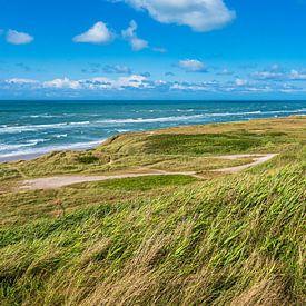 Dune et plage près de Hirtshals au Danemark sur Rico Ködder