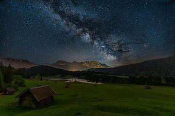 Melkweg boven de Geroldsee van Dennis Eckert