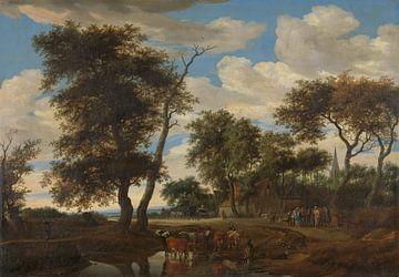 Dorfszene, Solomon van Ruysdael, 1663
