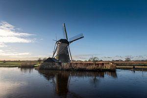 Traditionele windmolen in Kinderdijk, Nederland van Tjeerd Kruse