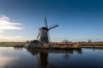 Traditionele windmolen in Kinderdijk, Nederland