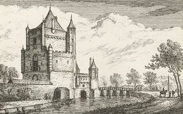 Abraham Rademaker, Ansicht des Amsterdamse Poort in Haarlem, 1680