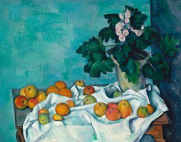 Paul Cézanne. Stilleben mit Äpfeln und einem Topf von Primeln