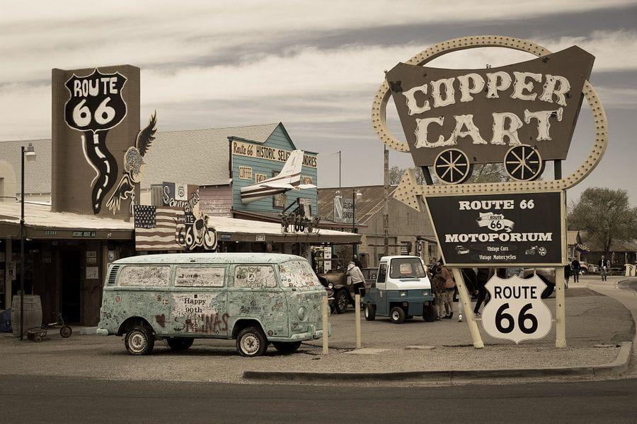 Auto langs Route 66