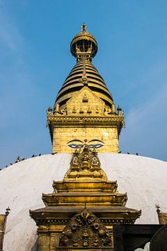 Stupa de Swayambhunath, Katmandou, Népal sur Rietje Bulthuis
