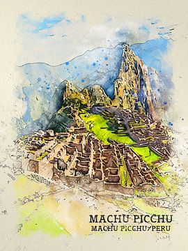Machu Picchu van Printed Artings
