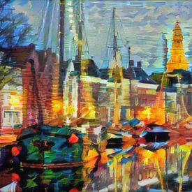 Abstract kunstwerk - Hoge der A Groningen van Slimme Kunst.nl