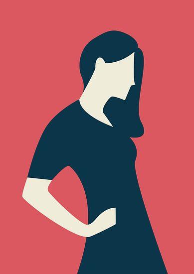 Eine Frau in Pose