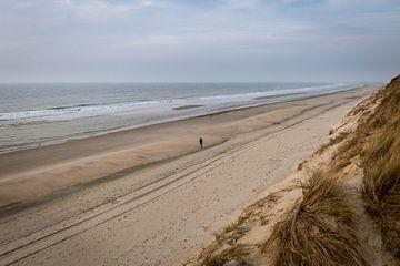 Leerer Strand in Zeeland, Niederlande von OCEANVOLTA