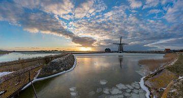 Winter op Texel - Molen het Noorden van Texel360Fotografie Richard Heerschap