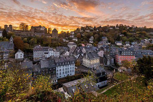 Zonsondergang in Monschau van