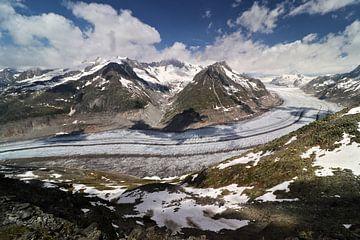 Aletschgletsjer - Wallis - Zwitserland van Felina Photography