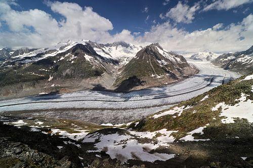 Aletschgletsjer - Wallis - Zwitserland van