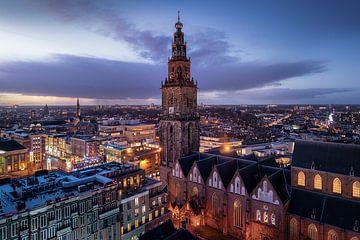 Skyline Groningen Martinitoren van Harmen van der Vaart