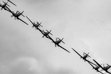 Supermarine Spitfire in formatie van Robbert De Reus