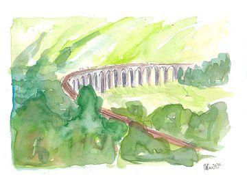 Glenfinnan-Viadukt West Highland Line in ganz Grün von Markus Bleichner