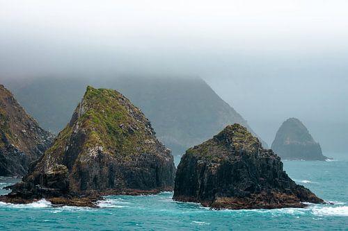 Rotsen in de mist, Nieuw Zeeland