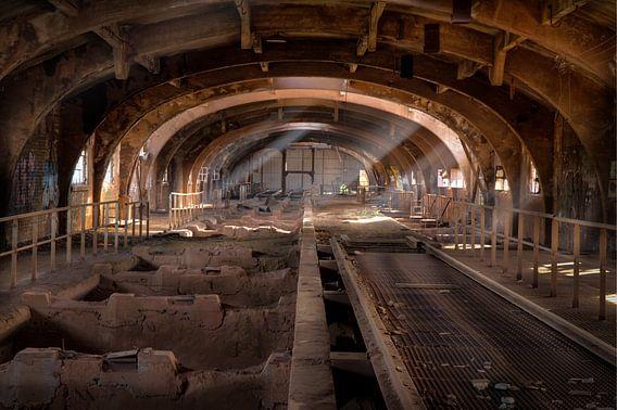 Verlaten erts bunkers van de voormalige staalfabriek Terre Rouge (urbex) van Eus Driessen