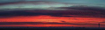 Panorama op de vroege ochtend bij de polderbaan van Stefano Scoop
