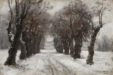Theodore Clement Steele, Winter in München - 1885 van Atelier Liesjes