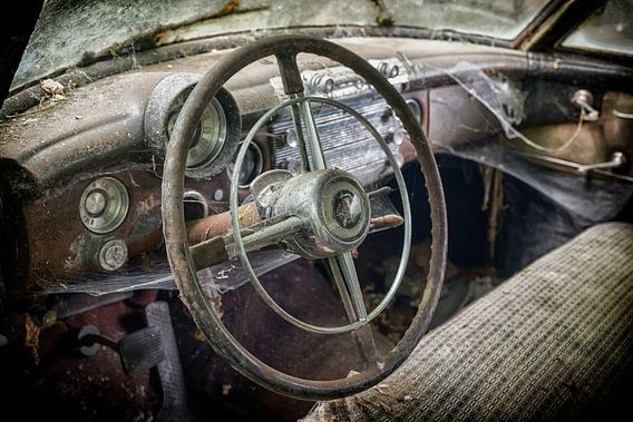 Lost Car in the Woods of Germany van Vincent den Hertog