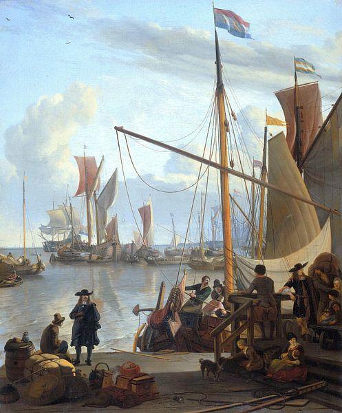 Ludolf Bakhuizen. Het IJ in Amsterdam, gezien vanfa de Mosselsteiger van 1000 Schilderijen