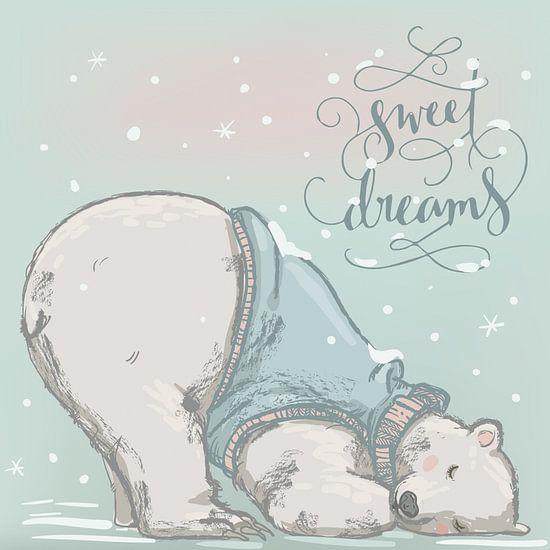 Sweet Dreams van STUDIO68 wanddecoratie