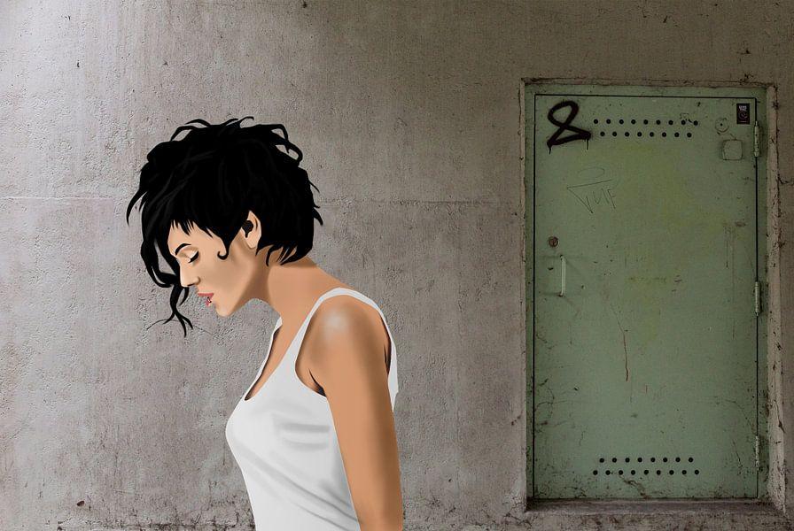 Vrouw onder de brug van Kim Verhoef