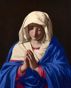 De maagd Maria, Giovanni Battista Salvi da Sassoferrato