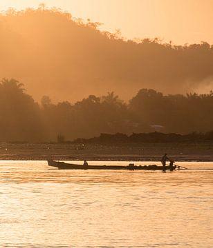 Amazonas-Sonnenuntergang am Fluss Beni von Lucas De Jong