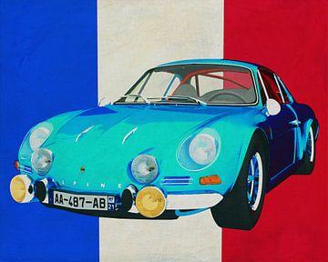 Alpine Renault 1600-S 1973 met Franse vlag