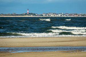 Waves on the North Sea island Amrum van