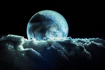 Eisblumen in Blase mal Frost von Blond Beeld