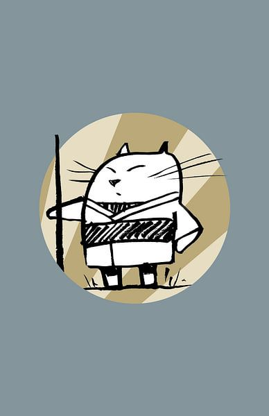 momoneko der Samurai von Péchane Sumie
