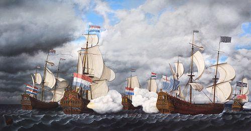 Hinderlaag op het koninklijke jacht van Cornelisz van de Beste