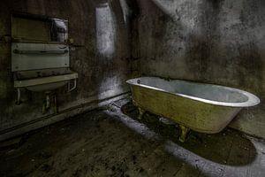 Badkamer in verlaten huis