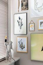 Kundenfoto: One line drawing Funny Grass von Ankie Kooi, als gerahmtes poster