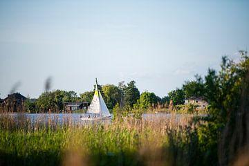 Zeilbootje op de Reeuwijkse Plassen // Groene Hart, Nederland van PHOTORIK