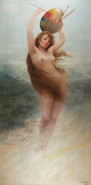 Almeida Júnior, Das Gemälde (Allegorie), 1892 von Atelier Liesjes