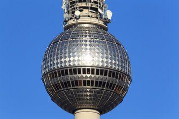 La sphère de la tour de télévision de Berlin à l'Alexanderplatz