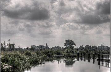 Doetinchem/Gaanderen; de Oude IJssel bij sluis de Pol fotoposter of  wanddecoratie van Edwin Hunter