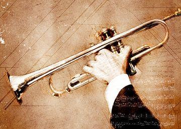 Trompet muziek kunst #trompet van JBJart Justyna Jaszke