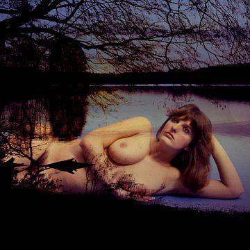 Sylvie in het meer van Bert Burkhardt
