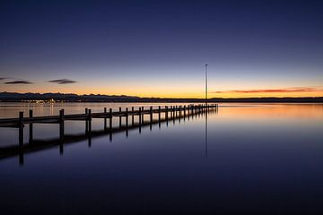 Sonnenuntergang am Starnberger See in Bayern von Achim Thomae