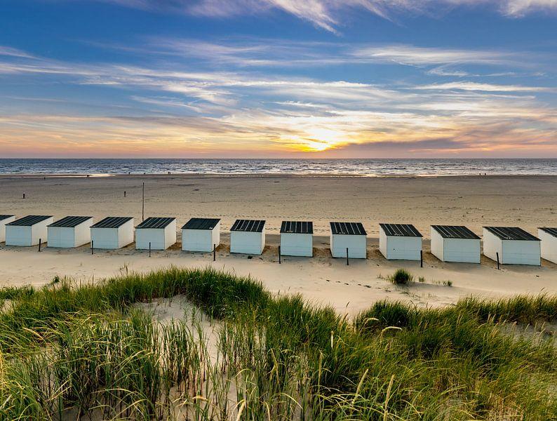 Strandhuisjes Paal 28 Texel van Texel360Fotografie Richard Heerschap