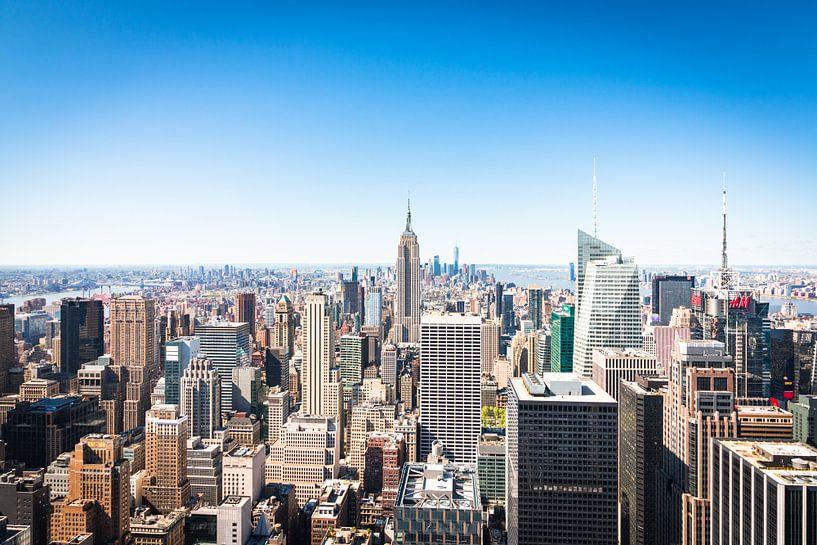 Skyline van New York (Manhattan) van Frenk Volt