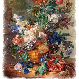 Alte Meister Serie #5 - Stilleben mit Blumen, Jan van Huysum von Anita Meis