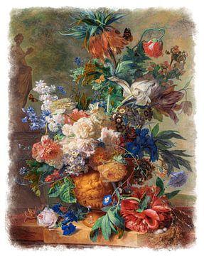Oude Meesters serie #5 - Stilleven met bloemen, Jan van Huysum